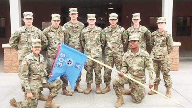 Savannah's graduating class from Advanced Individual Training at Fort Huachuca.