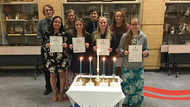 Congratulations to the new inductees to the Win-E-Mac Chapter of Minnesota Honor Society 2018-2019 school year. Inductees are Dustin Osland, Elliana Lindberg, Mason Spry, Lindsey Espeseth, Hally Catahan, Rylee Haugen, Abby Lende, Clavdia Anfilofieff. The Win-E-Mac chapter consists of juniors and seniors and are advised by Mrs. Jore.