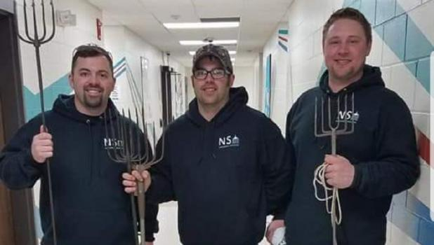 Owners of Northern Spiked: Jordan Gunufson, Trent Oftedahl, & Jered Gunufson. The trio will host a spearing show at the Lean To Tavern in Bejou on Saturday, November 23rd.