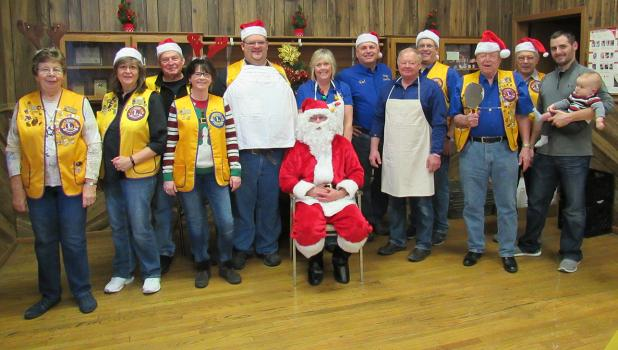 Santa with the Winger Lions.