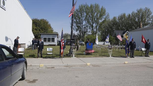 Plummer American Legion Post 623 held its annual  Memorial Day program at a different location, in the open space next to the Legion Post.