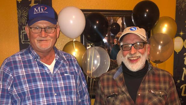 A retirement party was held last week for Machinewell's Vice Presidents, Ronald Palm and Donnie Wikert. Both have had an immense impact on their employees as well as the community by growing this local company into such a strong business. Photos by Grygla Eagle Newspaper