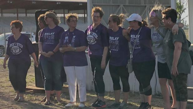Chicks from the Stix team members in attendance at the event last Friday night included, L-R: Carole Aune, Susie Olson, Stephanie Schenkey, Pam Cwikla, Nadine Wold, Tausha Severts, Shaunna Olson, Nikki Leach and Jean Johnson