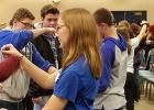 RLCC's sophomore students taking part in an activity at the Team-Up Leadership Conference Monday, January 8 in Thief River Falls.
