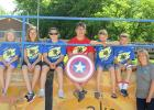 4-H Participants from Red Lake County that attended 4-H Camp are: (left to right) Harmonee Buckholtz, Emma Knott, Quinnlyn Kenfield, Kaydon Kenfield (4-H Camp Counselor), Jacob Harmoning, Coby Knott, and Sharon Weiss (4-H Program Coordinator).
