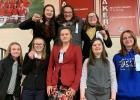 RLC Speech team walked away on March 7th with lots of victories! Front row, from left to right: Juliana Armentrout, Mariah Peterson, Autumn Houghtaling, Mykayla Peterson and Hannah Dudycha. Back row, from left to right: Jayden Iverson, Danny Guillmette, and Sage Hartmann.