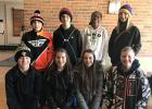 RLCC seventh and eighth graders who went to the Creativity Festival were (front) Kaleb Roussey, Marissa Schiebe, Kjerstin Nelson, and Jed Duden, (back) Caleb Nymann, Gunnar Sandeen, Lauren Jones, and Shawna Majeres.