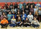 Freshman at Red Lake County Central had their annual CO2 car race. They are pictured with the cars they designed and raced.