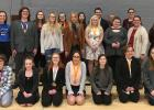 Red Lake County Speech Team at the Plummer Lions Invitational Meet. (Back) Autumn Houghtaling, Sage Hartman, Jayden Iverson, Phillip Sorenson, Jonathan Roue, Coach Ms. Jessie Hamrum, (Middle) Lily Guillemette, Danny Guillemette, Shellby Baird, Remi Rathsack, Lacey Pendelton, Grace Gieseke, Coach Mrs. Bobbi Aakhus, Bryn Vettleson, (Front) Madelyn Yde, Juliana Armentrout, Mariah Peterson, Lilly Hanson, Mykayla Peterson, Halie Thompson, and Luci Svendsen.