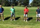 15-17 year old winners in the KC Jr. Golf tourney: L to R: Chase Nelson, RLF, Garrett Johanneck, RLF, Kaleb Thingelstad, Crookston, and Evan Girdler, RLF.