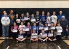 The Knights of Columbus held a Free Throw Contest with 19 participants who are pictured along with the volunteers. Winners advanced to the District Competition.