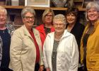 Phyllis Linder, Alice Hofstad, Diane Kolstoe, Irene Rosten, Ellen Hegge, and Ginny Stonehouse attend the 30th Annual Convention of the NW MN Synodical Women's Convention held at Fair Hills Resort by Detroit Lakes. All are members of Salem Lutheran Church.