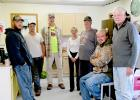 The crew at 5L Farms after breakfast getting ready for the day. From left to right: Lon Vettleson, Chris Dyrdahl, Jim Papke, Judy Opdahl, Lawrence Vettleson, Jared Hoeft and Lon Burgess. Lon and Lawrence Vettleson, partners in the five 5L Farms north of Gully received an award as being a Minnesota Water Quality Certified Farm.
