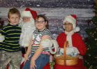 The Mostrom children with Santa in Oklee.