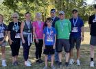 Hero Hustle 5K 1st place winners were: Ashlyn Nelson, Char Gagner, Maureen Bartlet, Holly Spong, Eli Nelson, Adam Kortan, Casey Weidenman, Bob Melby, Owen Chervestad, not pictured Mia Carriere.