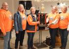 Of the fourteen teams that raised money for Trails to Treatments, the team that came out on top, raising $15,200 for the year, was the Gentilly Rocky Ridge Riders. Left to right: LouAnne Olson, Ruth Bornsen, Pam Delage, Bonnie Christians, and Cathy Desrosier. Also on their team, but unable to attend the supper are Pam Maygra, Kari Trudeau and Lisa Desrosier.