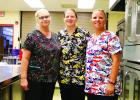 The Food Service at Clearbrook-Gonvick School district will be busy this year serving free meals to all students through the state program. Shown left to right Melynda Zurhorst, Robin Proffiit, Food Service Director and Danielle Derby.
