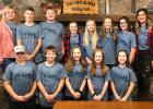 """This group of Grace/Our Savior's Lutheran Church kids attended the 2019 NW MN Synod Middle School Gathering """"Heard"""" last weekend at Luther Crest Bible Camp in Alexandria. Front row, L-R: Raymond Moe, Brody Saurdiff, Kinsley Oslund, Allie Sundberg and Emily Johnson. Back row, L-R: Jamie Aune (Chaperone), Blake Rychlock, Gain Aune, Addison Severts, Anna Sundberg, Ava Sorvig, Lakylie Brobst and Kari Sundberg (Chaperone). Photo courtesy of Kari Sundberg"""